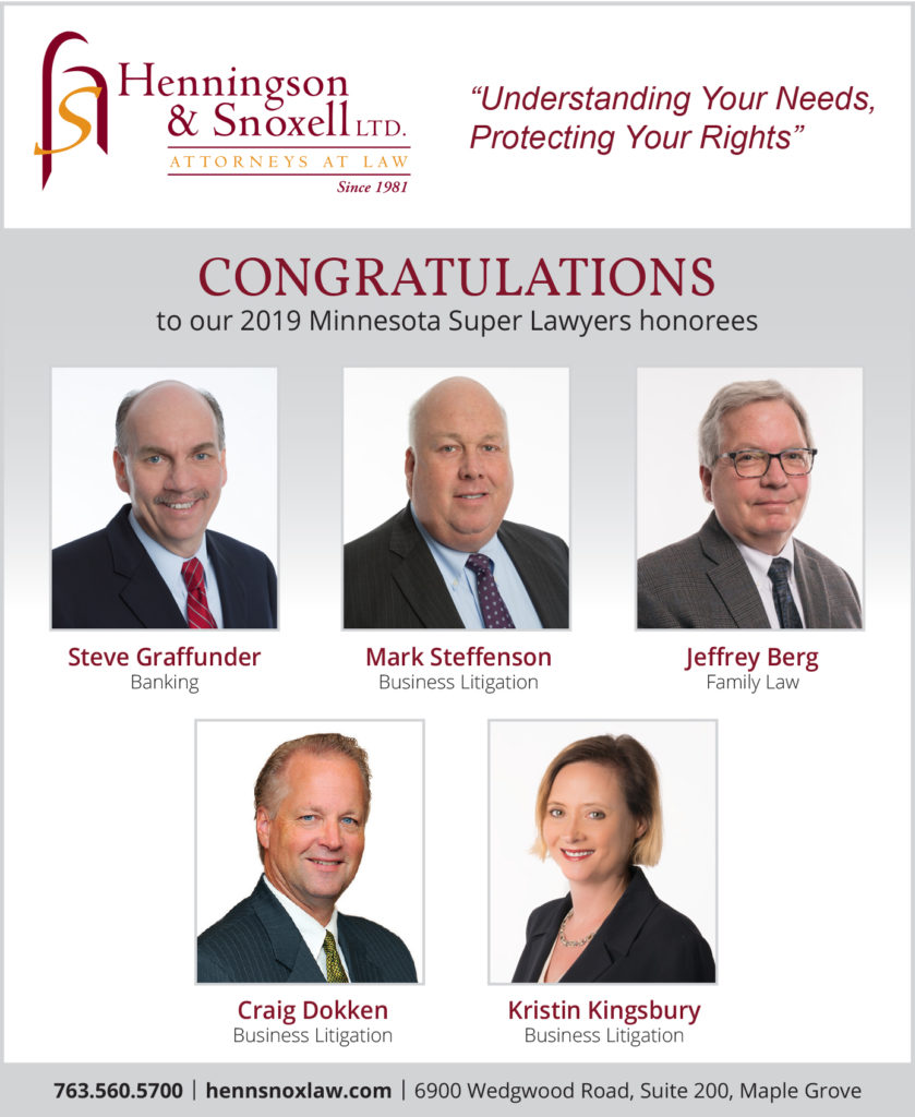 2019 Minnesota Super Lawyers honorees