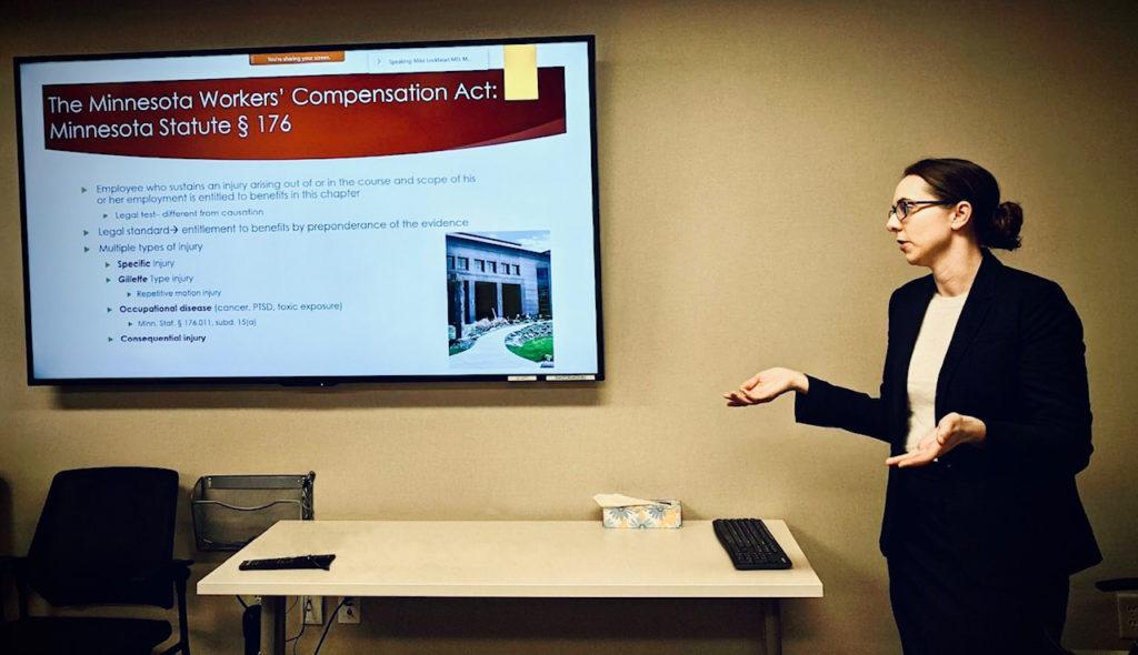Mary Beth Boyce presenting to the HealthPartners Occupational Medicine Residency Program