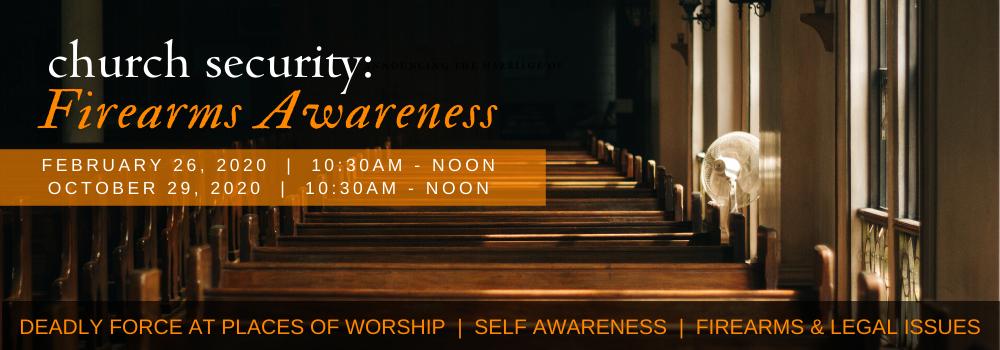 Church Security: Firearms Awareness seminar