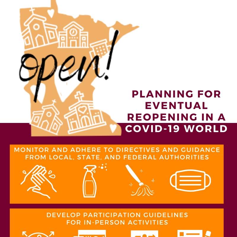 Planning for Eventual Reopening in a Covid-19 world infographic snippet